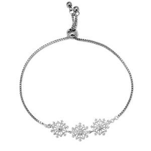Snowflake Bolo Bracelet With Diamond Accents